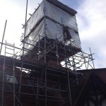 Scale of chimney restoration works brick bricks bricktint bricktinting constructionhellip
