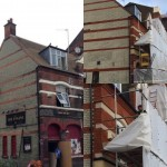 Unwrapping the newly cleaned and tinted brickwork and feature masonryhellip