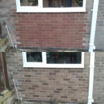 Before and after bricktint at a local residential property tohellip